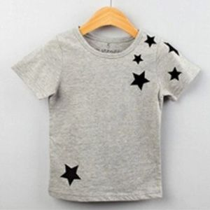 New! Gray tee with stars size 3T, 4T